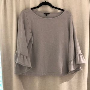 Banana Republic grey top with 3/4 flared sleeve